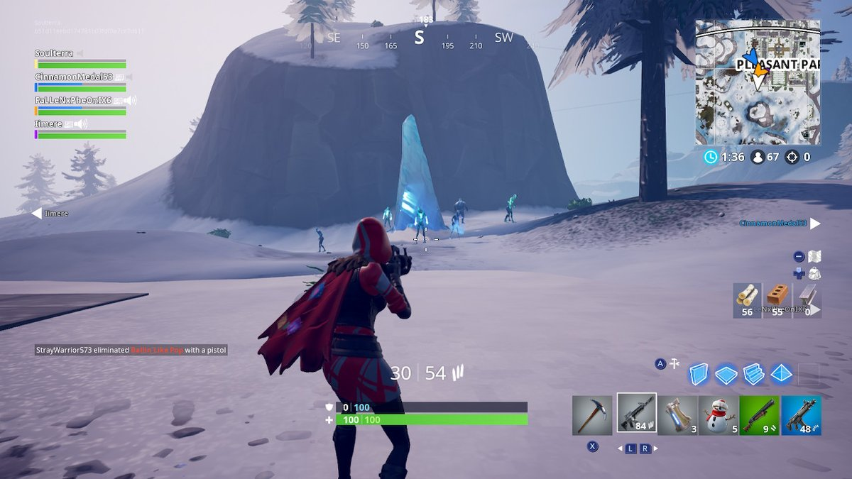 fortnite ice storm challenges golden ice brutes - oce fortnite servers