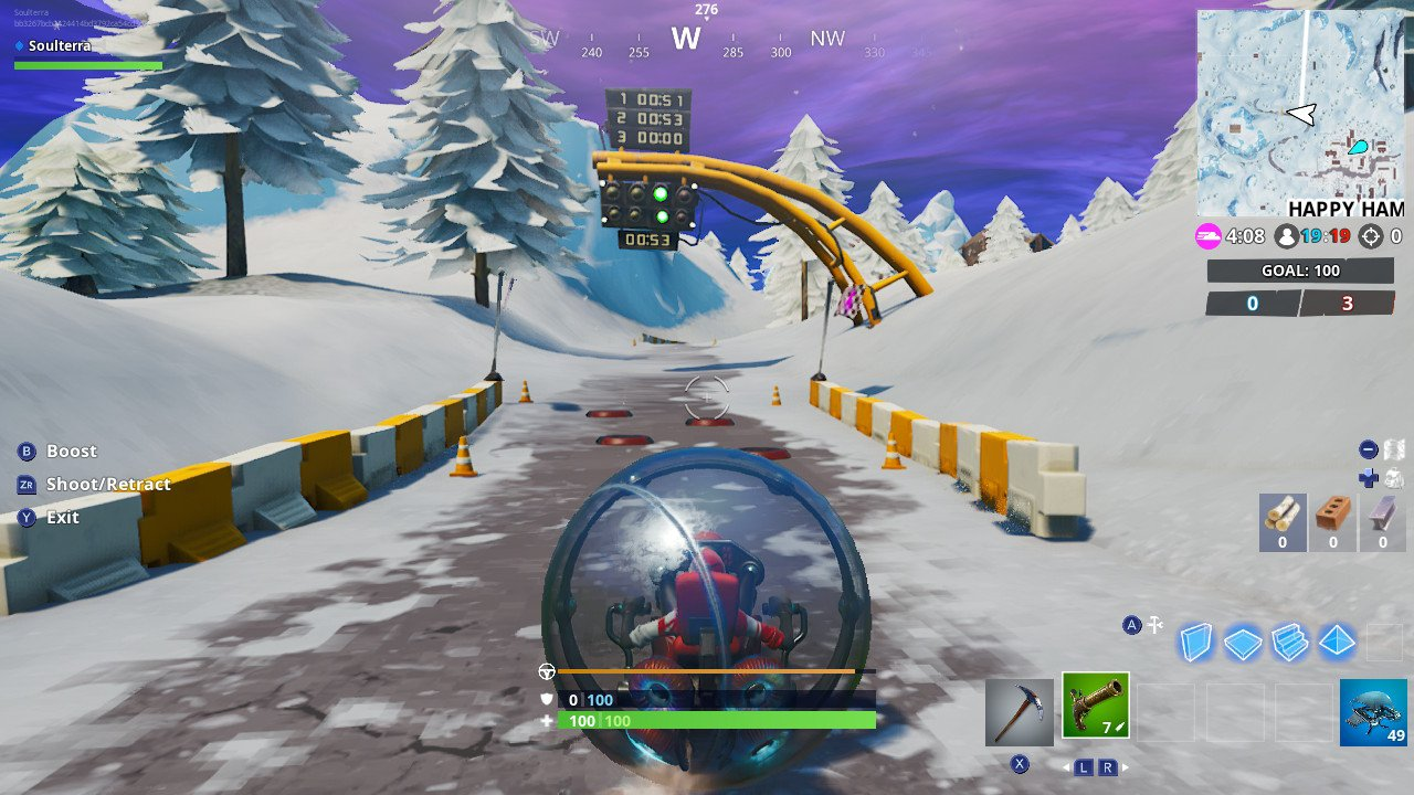 Fortnite Week 5 Challenges: Complete Lap at Race Track in