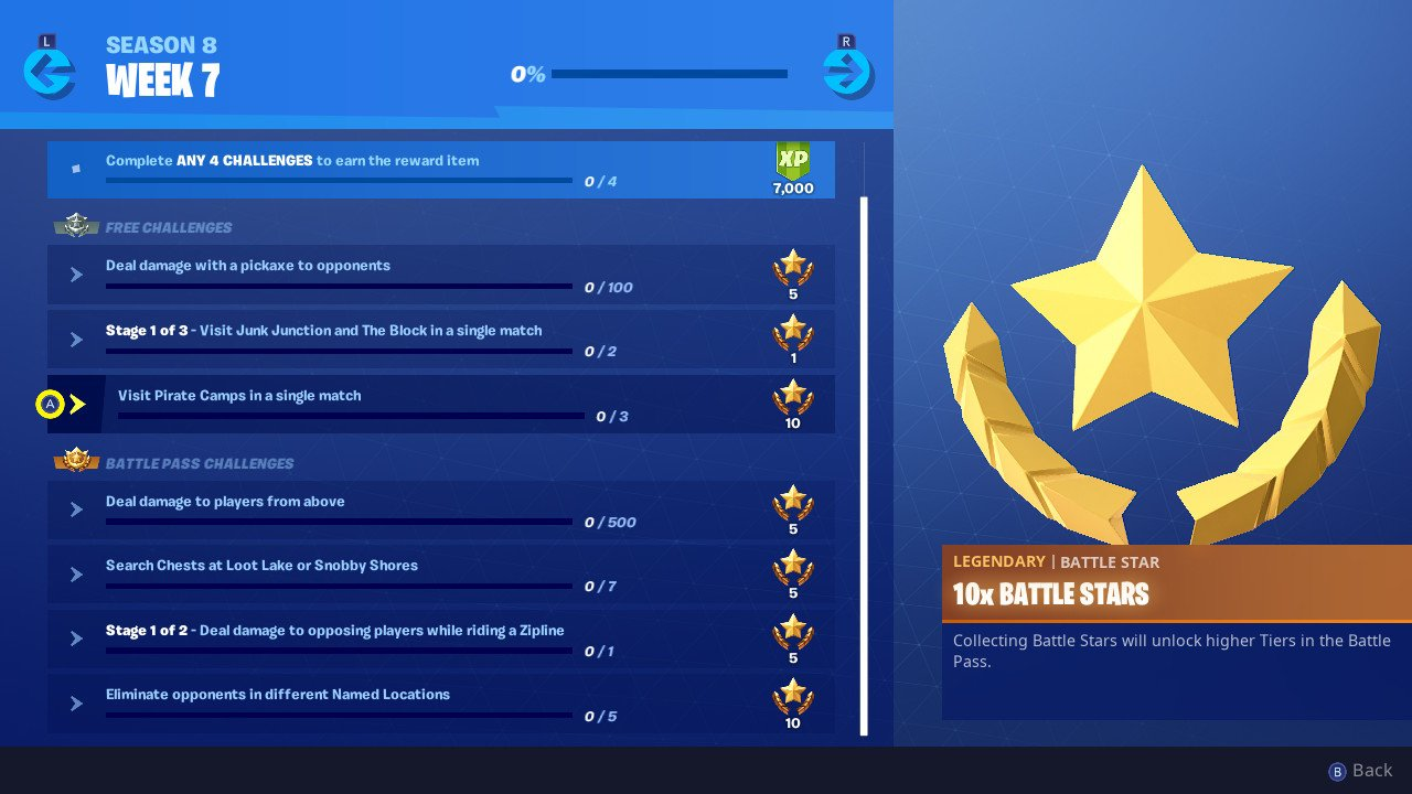Fortnite Week 7 Challenges Visit 3 Pirate Camps In One